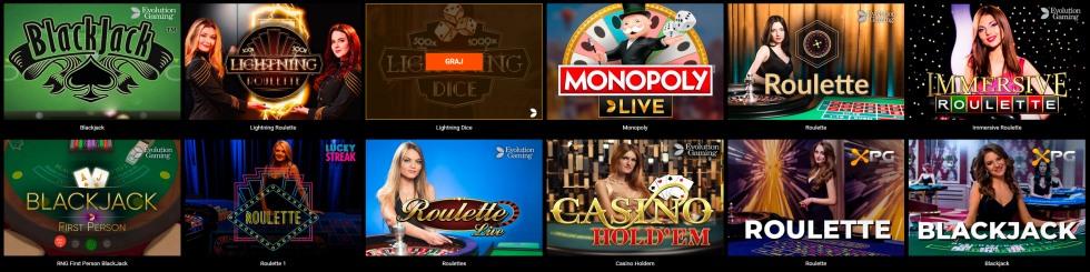 spinamba kasyno na żywo